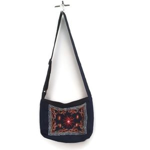 Ladies handbag made from recycled demin.
